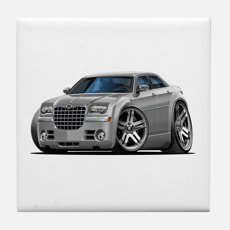 Chrysler 300 Silver Car Tile Coaster