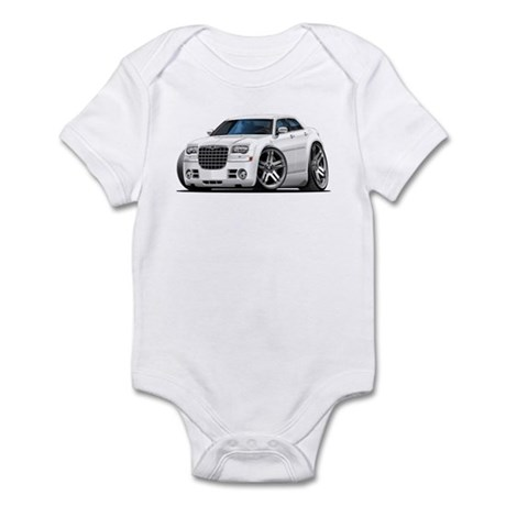 Chrysler 300 White Car Infant Bodysuit