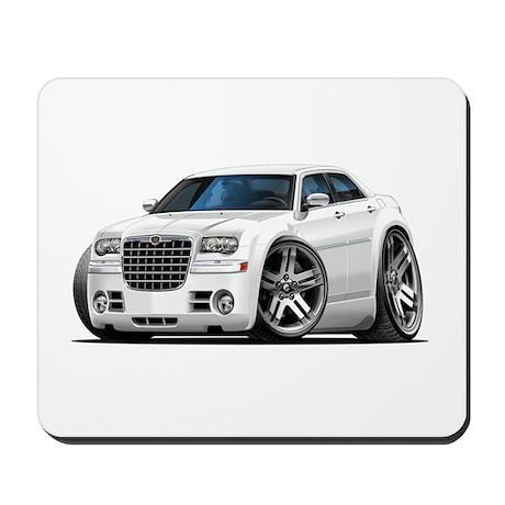 Chrysler 300 White Car Mousepad