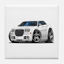 Chrysler 300 White Car Tile Coaster