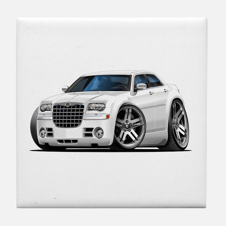 Chrysler 300 White Car Tile Coaster