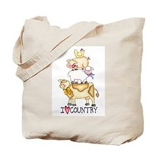 I Love Country Tote Bag
