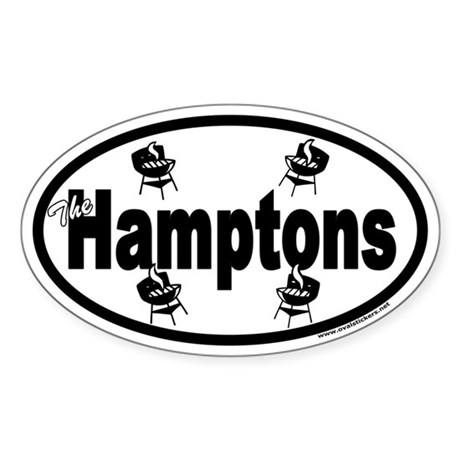 The Hamptons Euro Oval Sticker