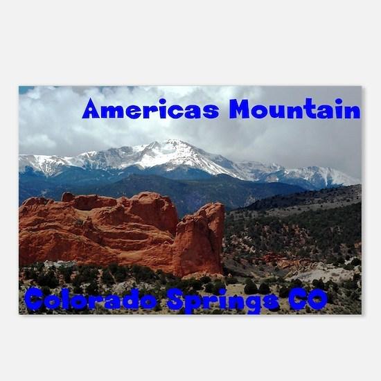 Pikes peak Postcards (Package of 8)
