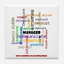 Manager Traits Colour Tile Drinks Coaster