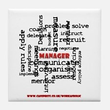 Manager Traits Tile Drinks Coaster