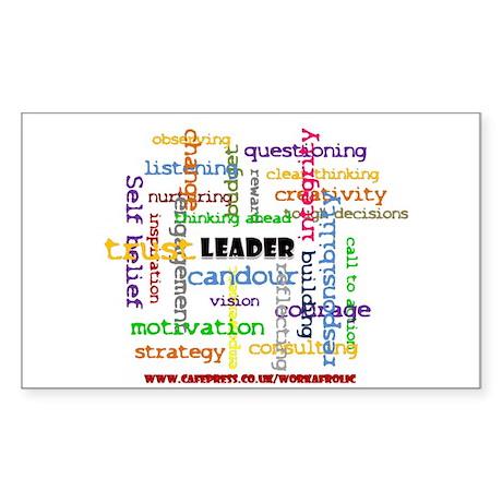 Leadership Traits Colour Rectangle Sticker