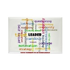 Leadership Traits ColourRectangle Magnet 100 pack)