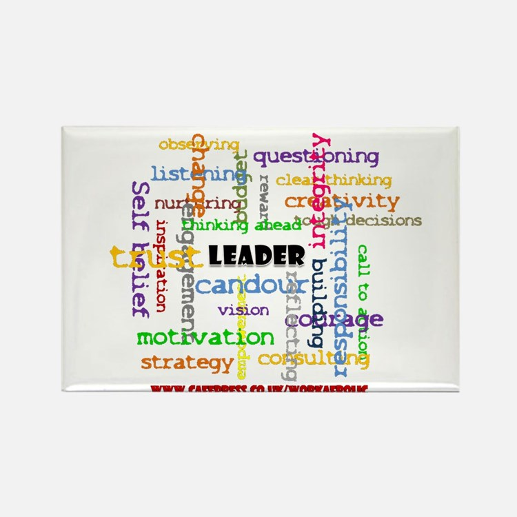 Leadership Traits Colour Rectangle Magnet