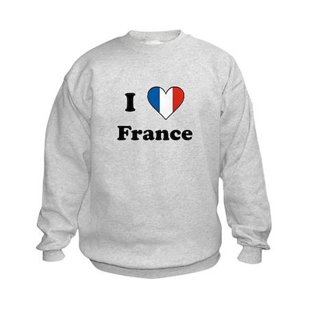 I Love France Kids Sweatshirt