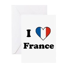 I Love France Greeting Card
