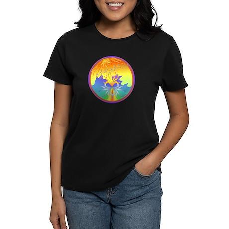 Sunset Healing OM Mandala Women's Dark T-Shirt