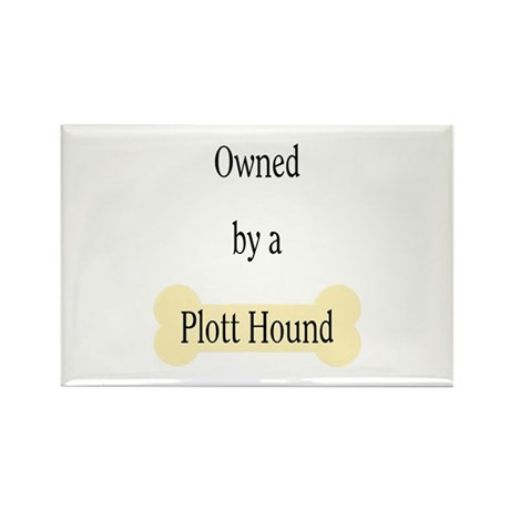 Owned by a Plott Hound Rectangle Magnet (100 pack)