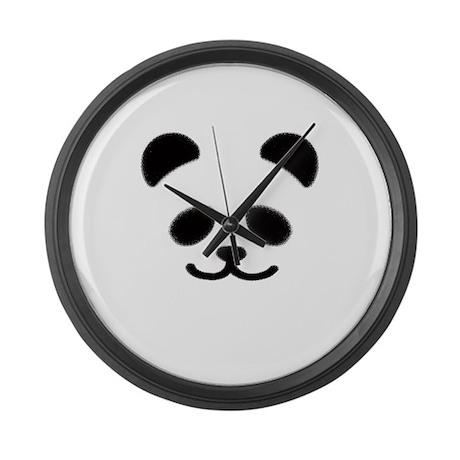 Smiley Panda Large Wall Clock