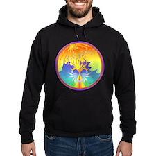 Sunset Healing OM Mandala Hoodie