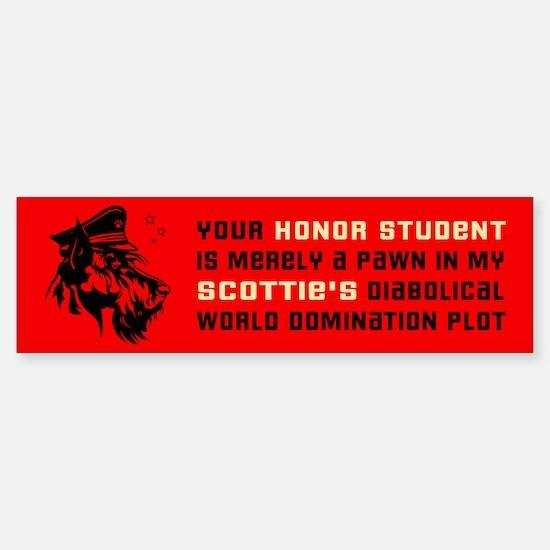 Scottie World Domination Bumper Bumper Bumper Sticker