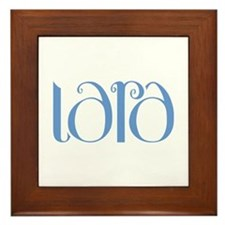 Lara blue Framed Tile