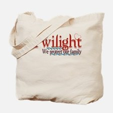 Twilight, We Protect Our Fami Tote Bag