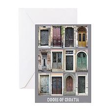 Doors of Croatia Greeting Card