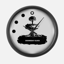 Funny End of the world mayan Large Wall Clock