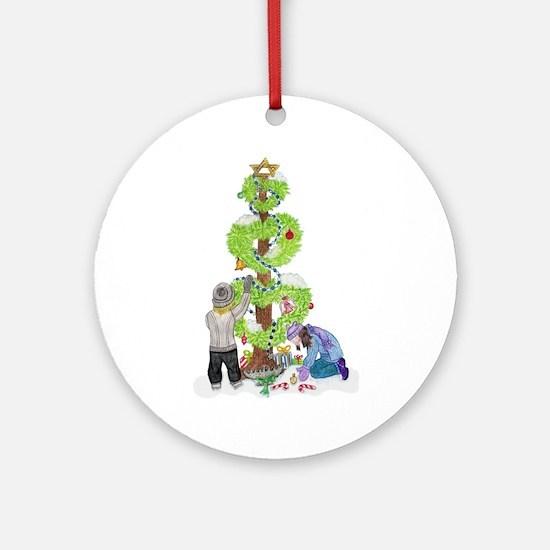 Holiday Love Tree Ornament (Round)