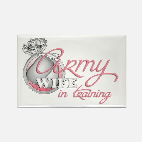 Army Wife in Training Rectangle Magnet