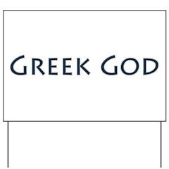 Greek God Yard Sign