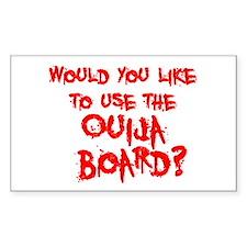 Paranormal Ouija Board Rectangle Decal