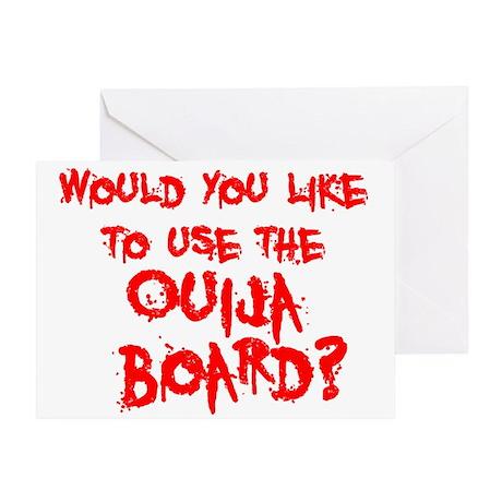 Paranormal Ouija Board Greeting Card