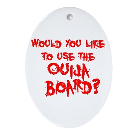 Paranormal Ouija Board Oval Ornament