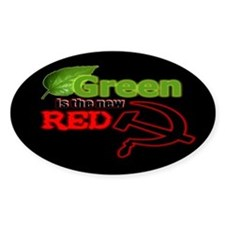 """The New Red"" Oval Decal"