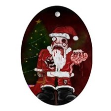 Zombie Santa Oval Ornament