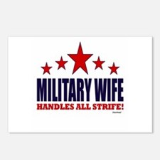 Military Wife Handles All Strife Postcards (Packag