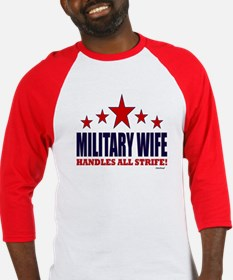 Military Wife Handles All Strife Baseball Jersey