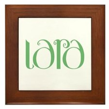 Lara green Framed Tile