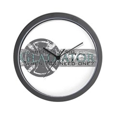 Where's a Big Gladiator... Wall Clock