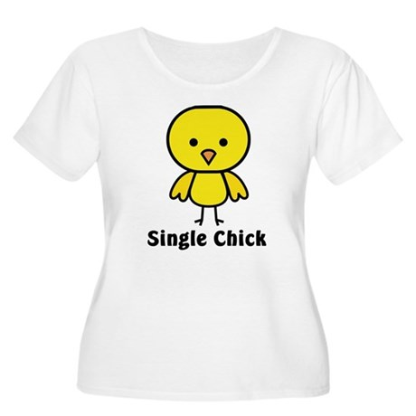 Single Chick Women's Plus Size Scoop Neck T-Shirt