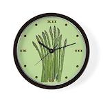Green Asparagus Wall Clock