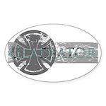 Big Gladiator Oval Sticker