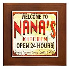 Nana's Kitchen Grandma Art Framed Tile