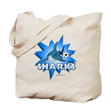 Sharks Soccer Tote Bag