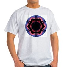 Sunset Mandala Ash Grey T-Shirt