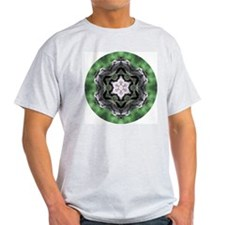 Forest Log Mandala Ash Grey T-Shirt