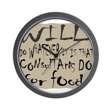 Homeless Consultant Wall Clock
