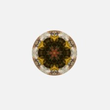 Redtail Hawk Mandala Mini Button