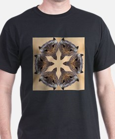 Redtail Hawk Mandala Black T-Shirt