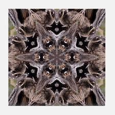 Raccoon Mandala Tile Coaster