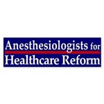 Anesthesiologists for Health Care Reform sticker