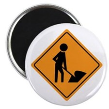 Construction Worker Sign Magnet