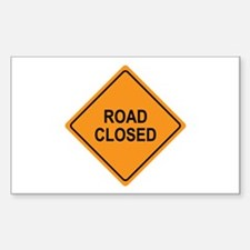 Road Closed Sign Rectangle Decal